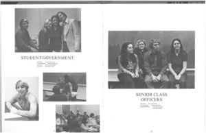 Student Government and Senior Class Officers from the 1972 issue of Suffolk University's Beacon yearbook