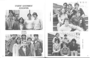 Student Government Association section from the 1981 issue of Suffolk University's Beacon yearbook