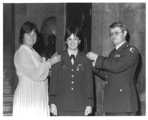 ROTC swearing in ceremony at Suffolk University , 1984