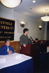 A panel discussion sponsored by Suffolk University's Student Government Association