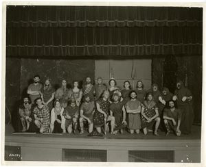 Members of the Suffolk University Players perform in a production of Lady Macbeth