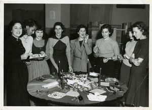 The Women's Association of Suffolk University Christmas party, 1949