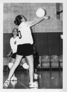 Suffolk University women's volleyball game photo, circa 2000