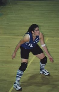 Suffolk University women's volleyball game photo, circa 2003