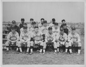 Suffolk University baseball team portrait, undated