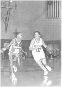 Suffolk University women's basketball team game, 2000