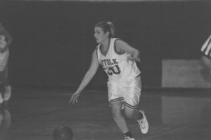 Suffolk University women's basketball team game, circa 2004