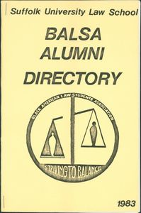 Suffolk University Law School (SULS) Black American Law Students Association (BALSA) Alumni Directory, front cover