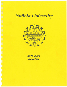 2003-2004 Suffolk University Telephone Directory