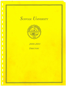 2000-2001 Suffolk University Telephone Directory