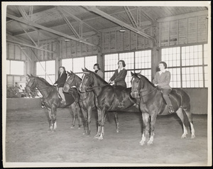 Howard Seminary for Women - Four equestriennes