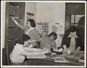 Howard Seminary for Women - Students working on yearbook