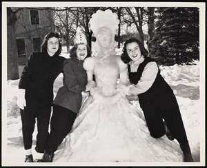 Howard Seminary for Women - Princess snow sculpture