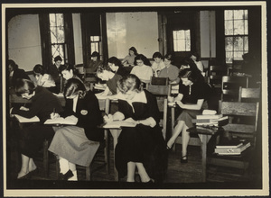 Howard Seminary for Women -Students taking an exam