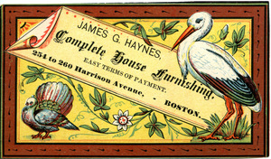 James G. Haynes, complete house furnishing, easy terms of payment