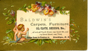 Baldwin's carpets, furniture, oil cloth, bedding, etc.
