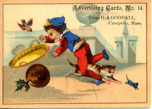 Advertising cards, No. 14, from G. A. Goodall