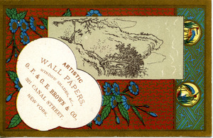Artistic wall papers, window shades, &c., G. F. & C. E. Brown & Co.