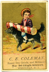 C. E. Coleman, fancy dry goods, and millinery