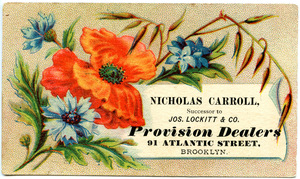 Nicholas Carrol, successor to Jos. Lockitt & Co., provision dealers