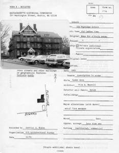 Lowell Neighborhoods: Historical and Architectural Survey