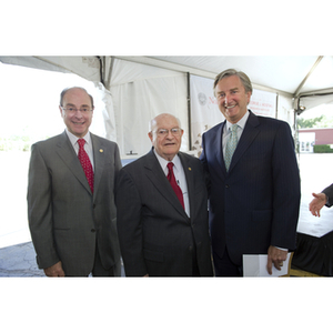 Special guests pose at the groundbreaking ceremony for the George J. Kostas Research Institute for Homeland Security
