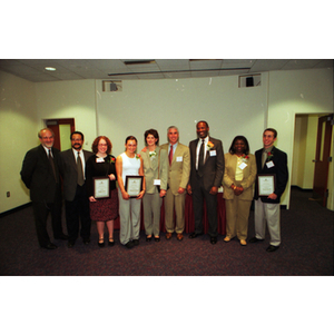 21st Century Scholarship award recipients and representatives from the Office of University Development pose together