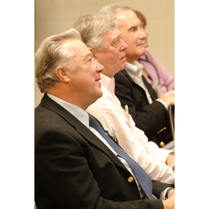 Audience listens to panelist at the NU Today Cancer Research Panel