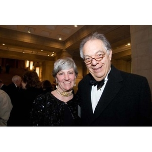 A couple smiles at the inauguration celebration of President Aoun