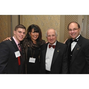 President Joseph Aoun with guests at the Huntington Society Dinner