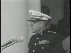 General David Shoup at Arlington Cemetery for Speech