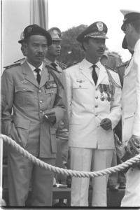 1st Army Corps Commander Nguyen Chanh Thi with air force Commander Nguyen Cao Ky.