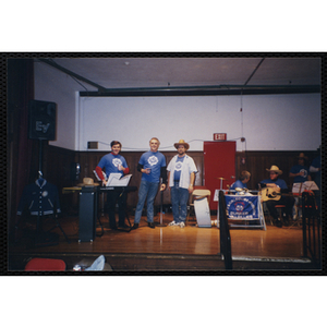 Bunker Hillbilly alumni occupy a stage at a reunion event