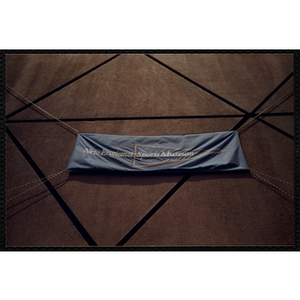 The banner for the New England Sports Museum