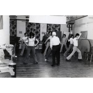 Chinese Progressive Association members in an exercise class