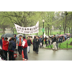 Activists protesting construction in Chinatown