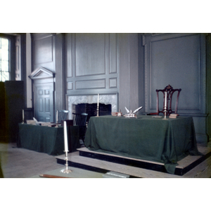 Interior of Independence Hall in Philadelphia, Pennsylvania