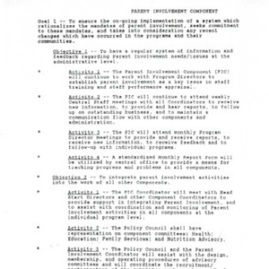 Parent Involvement Component in programs and parent handbook for 1997-1998