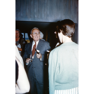 Dean of Students Harold Melvin at Reunion, no date