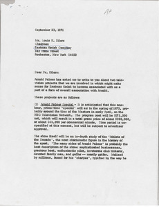 Letter from Mark H. McCormack to Louis K. Eilers