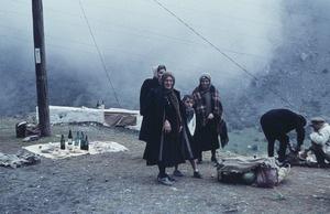 Preparing for a picnic on a feast day in the Caucasus