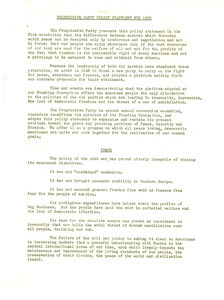 Policy statement for 1950