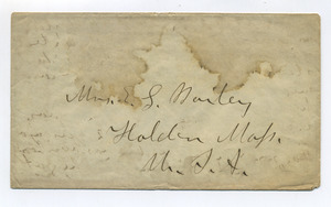 Envelope addressed to E. S. Bailey