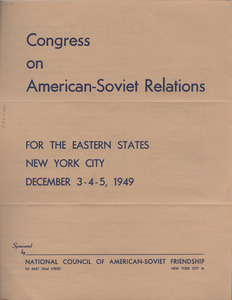 Call to Congress on American-Soviet Relations