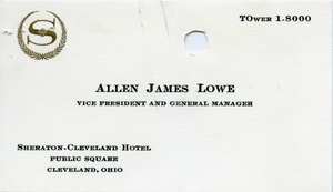 Allen James Lowe business card