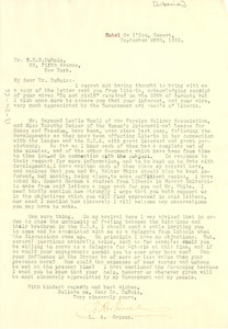 Letter from Secretary of State, Liberia, to W. E. B. Du Bois