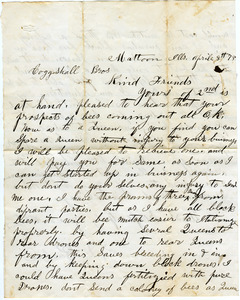 Letter from S. D. Barber to D. H. Coggeshall
