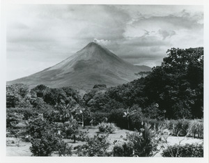 Arenal volcano from lodge
