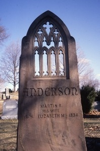 Cambridge Cemetery (Cambridge, Mass.) gravestone: Anderson, Martin and Elizabeth