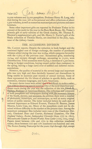 Fragment from the Yale University Library Report